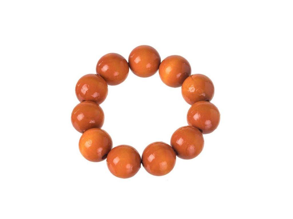 Dřevěný náramek - oranžový