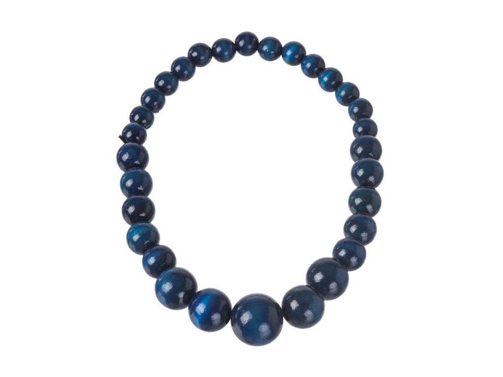 Dřevěný náhrdelník - modrý