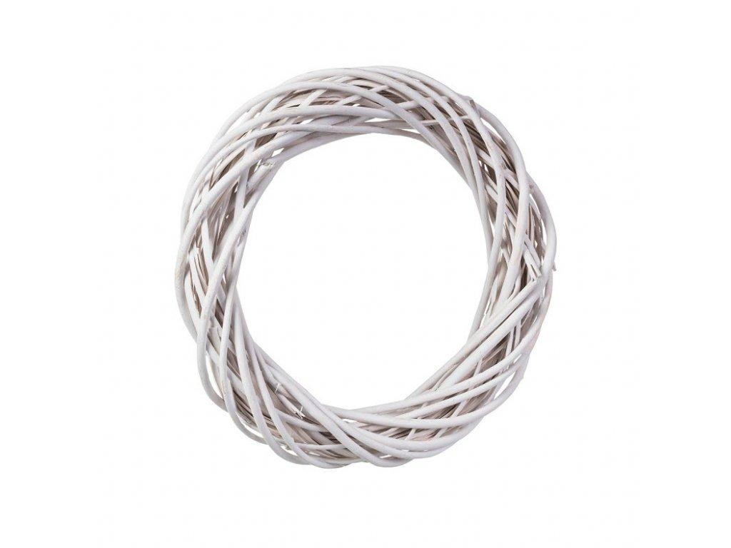 Proutěný věnec bílý 38 cm