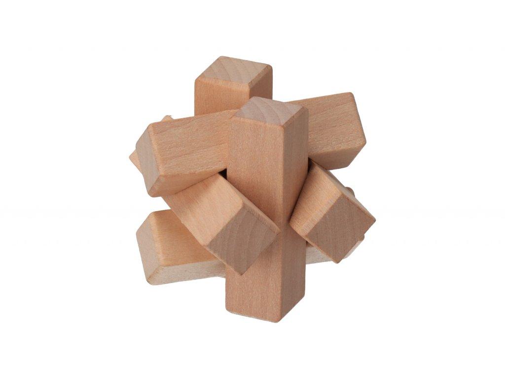 Dřevěný hlavolam mini II
