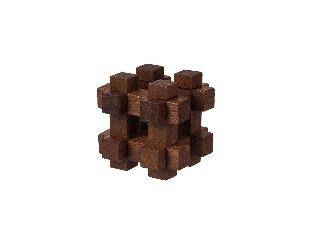 Dřevěný hlavolam mini V