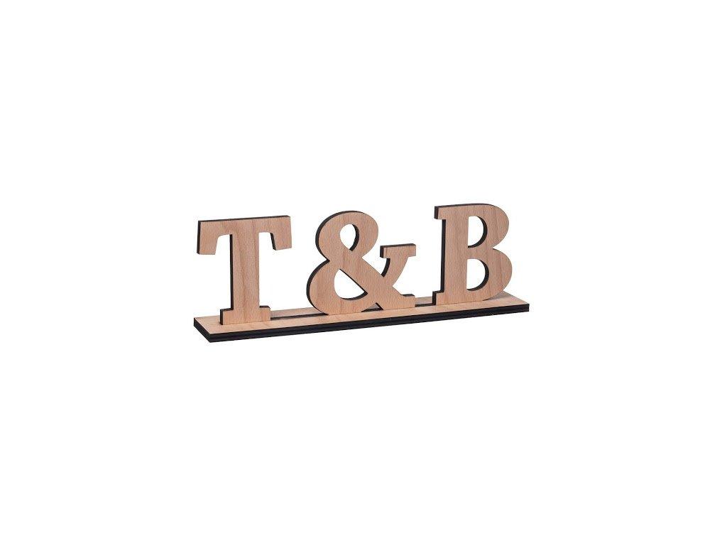 Dřevěné iniciály na míru