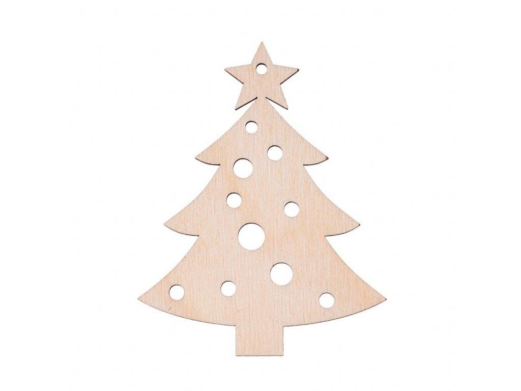 Dřevěná vánoční ozdoba - stromeček