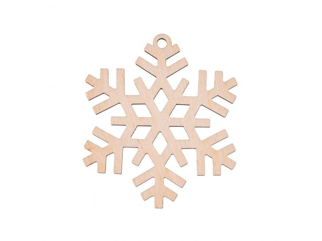 Dřevěná vánoční ozdoba - vločka