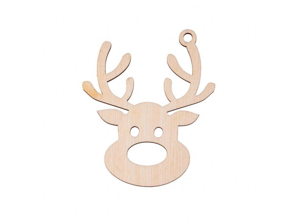 Dřevěná vánoční ozdoba - sob I