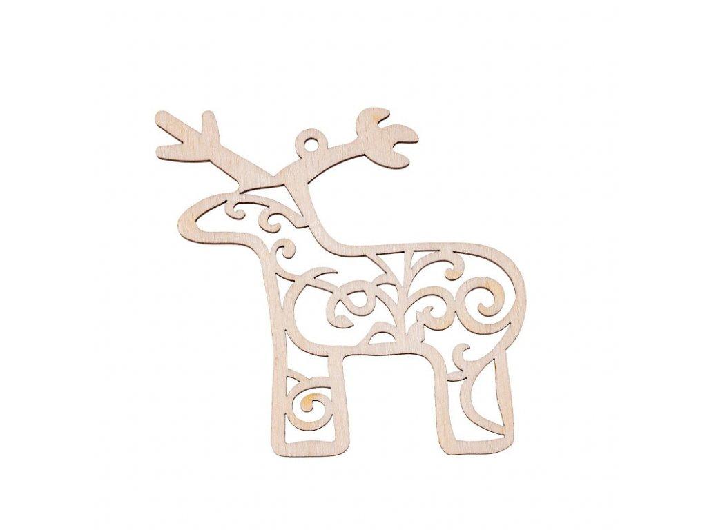 Dřevěná vánoční ozdoba - sob II