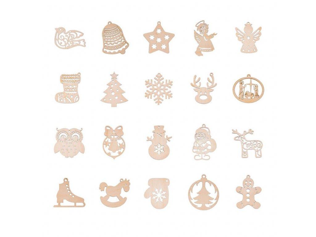 Kolekce vánočních ozdob - 20 ks