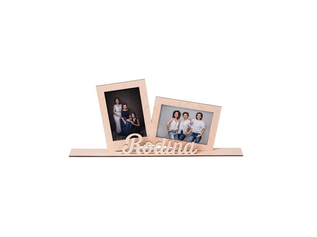"""Dřevěný fotorámeček """"rodina"""""""