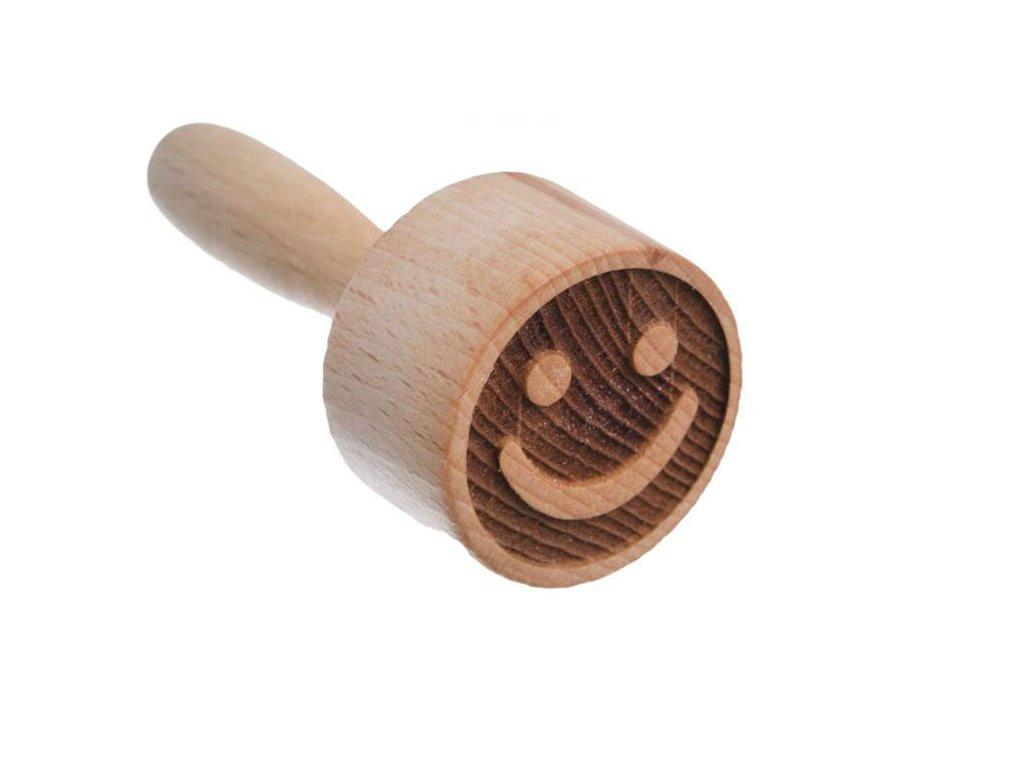 Dřevěné razítko na těsto - smajlík