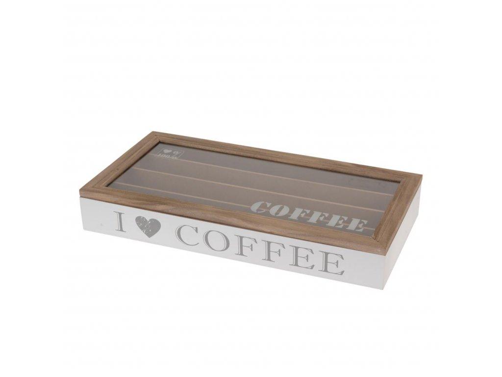 Dřevěný box na kapsle