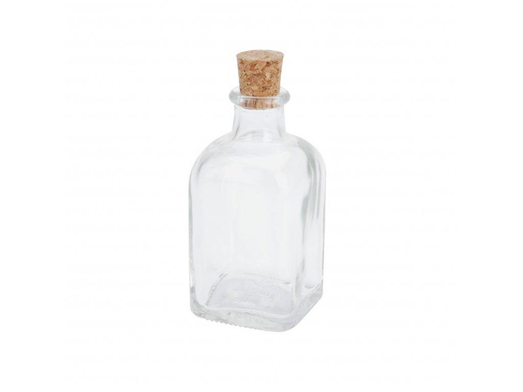 Skleněná láhev s korkem 100 ml