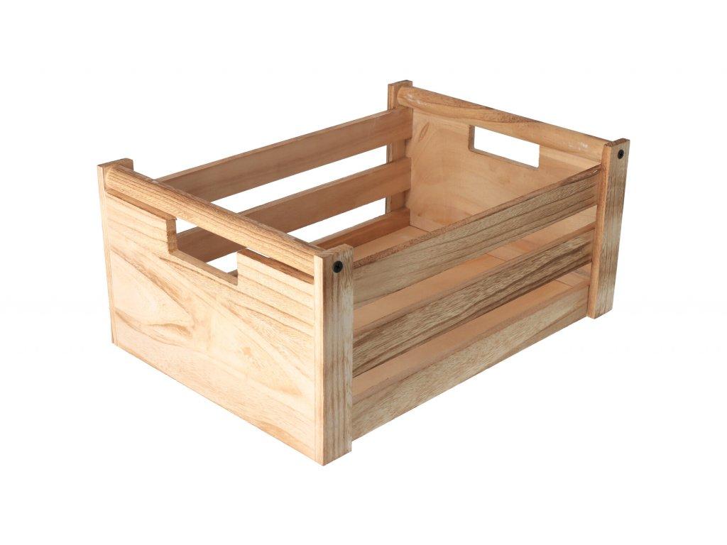 Dřevěná bedýnka natural 36x26x16 cm