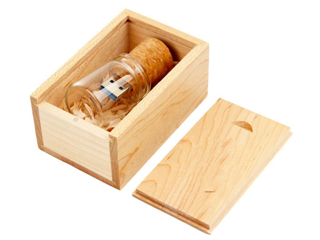 Dřevěný USB disk v lahvičce 32 GB