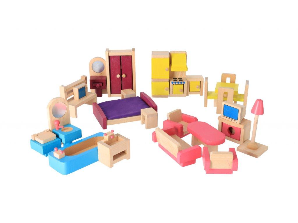 Dřevěný dětský nábytek - 26 ks