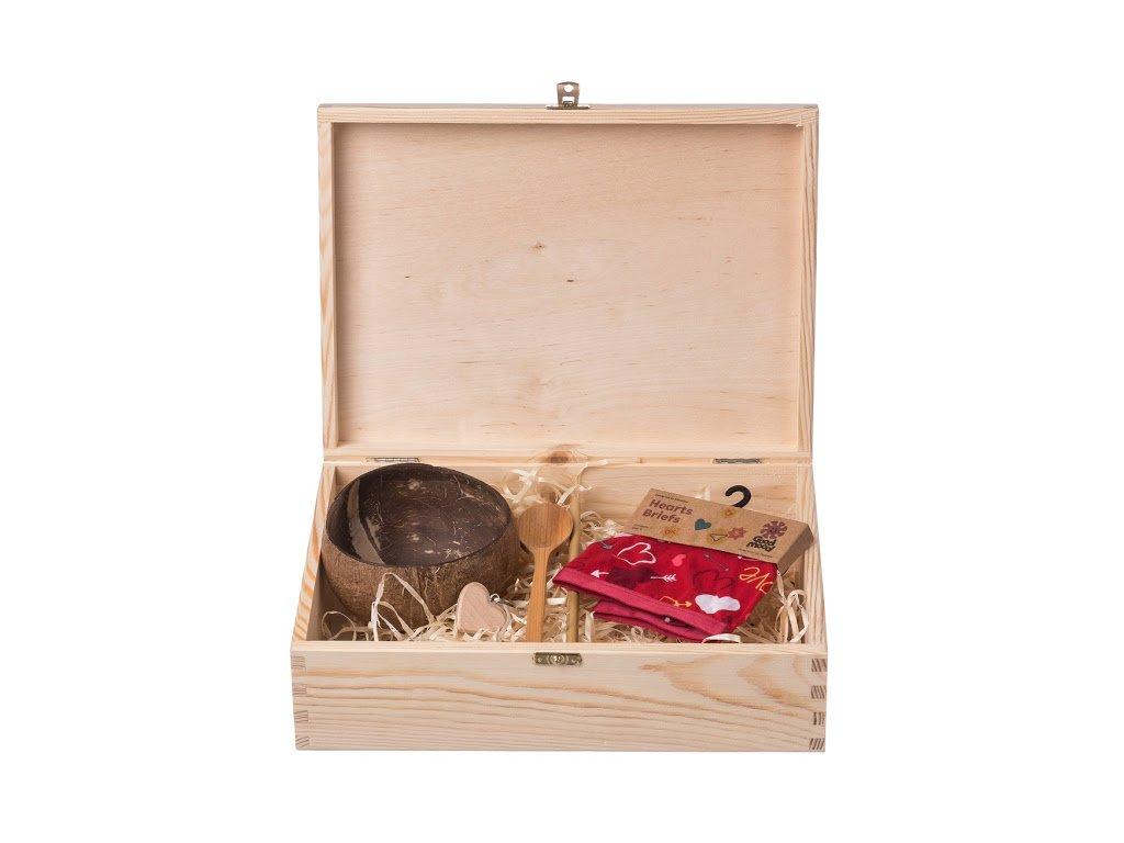 Dárková dřevěná krabička IV