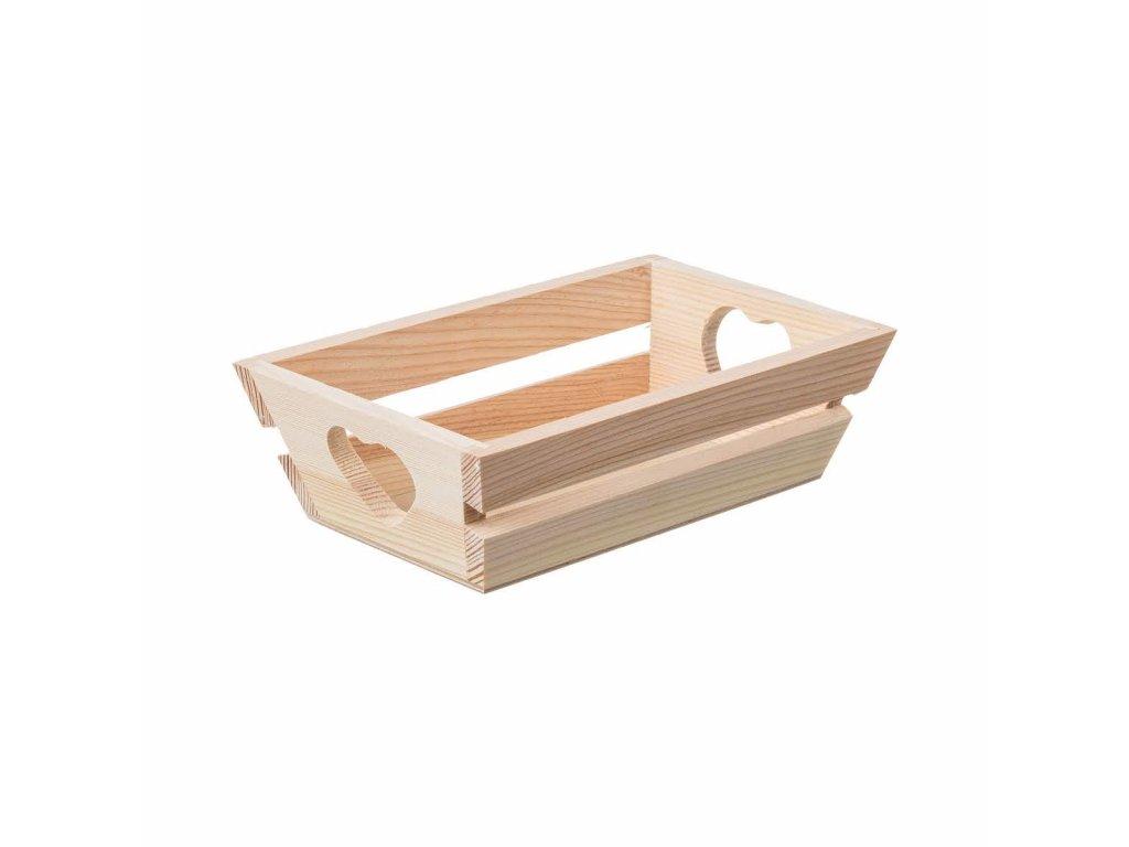 Dřevěný tác se srdíčkem