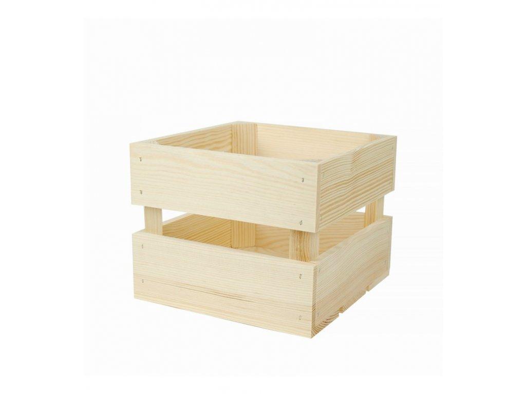 Dřevěná bedýnka 20 x 20 x 16 cm