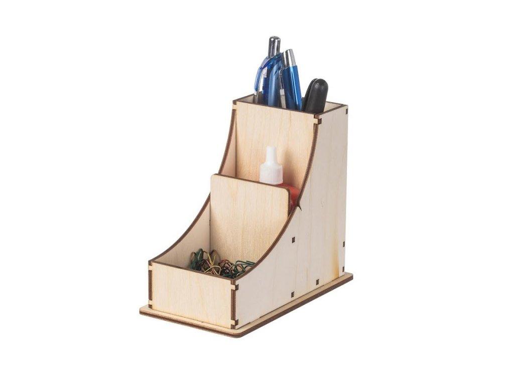 Dřevěný stojan na psací potřeby