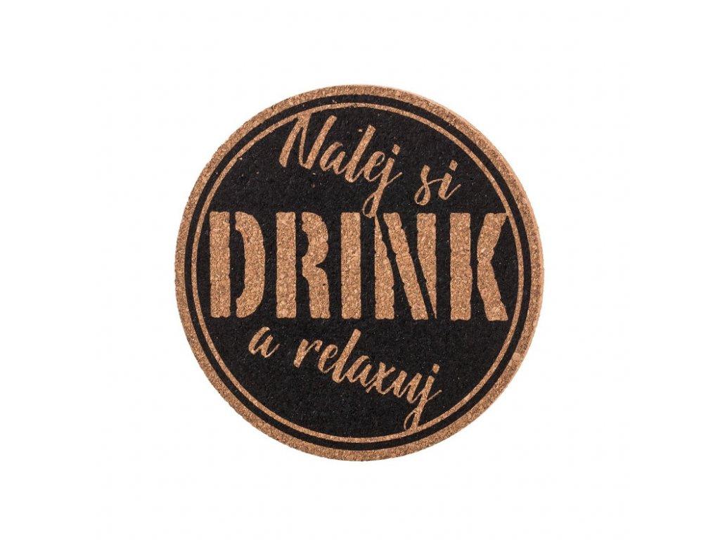 Korkový podtácek - nalej si drink a relaxuj