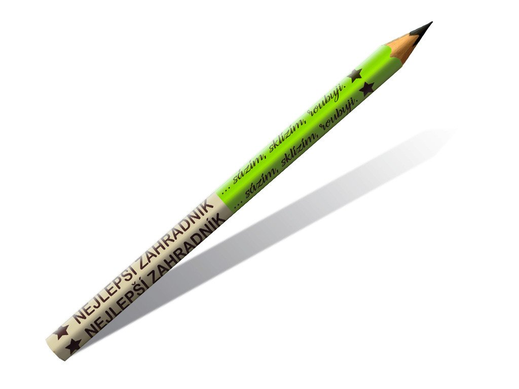 Dřevěné tužky nejlepší zahradník 2 ks