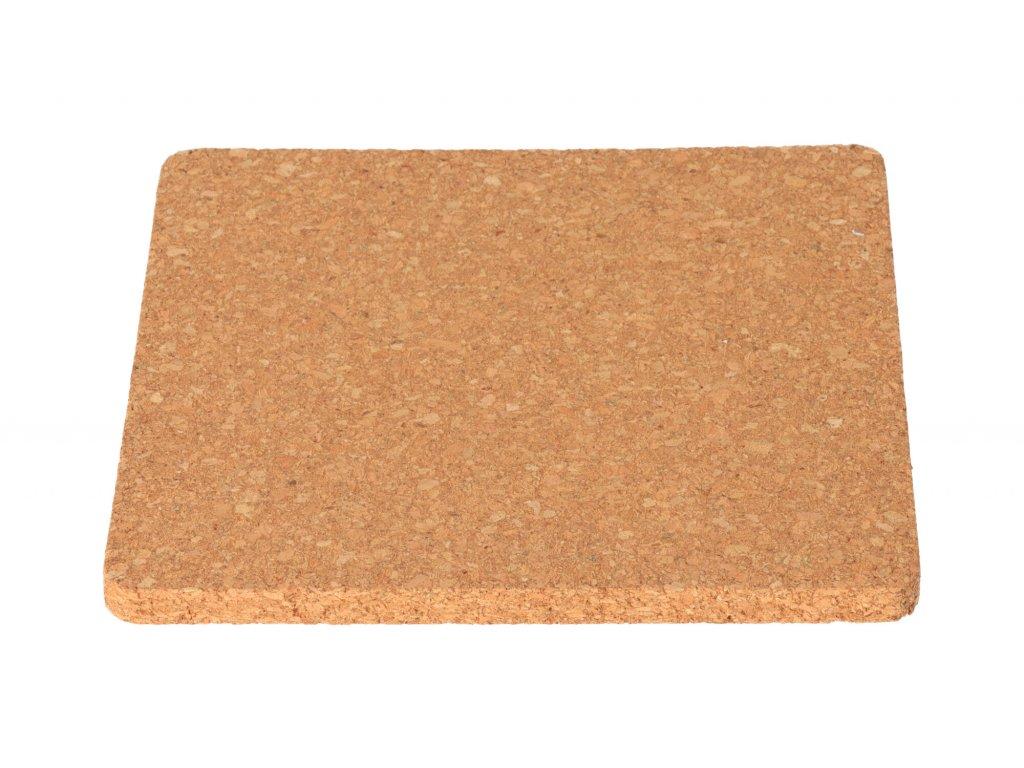 Korková podložka pod hrnec čtvercová 19x19 cm