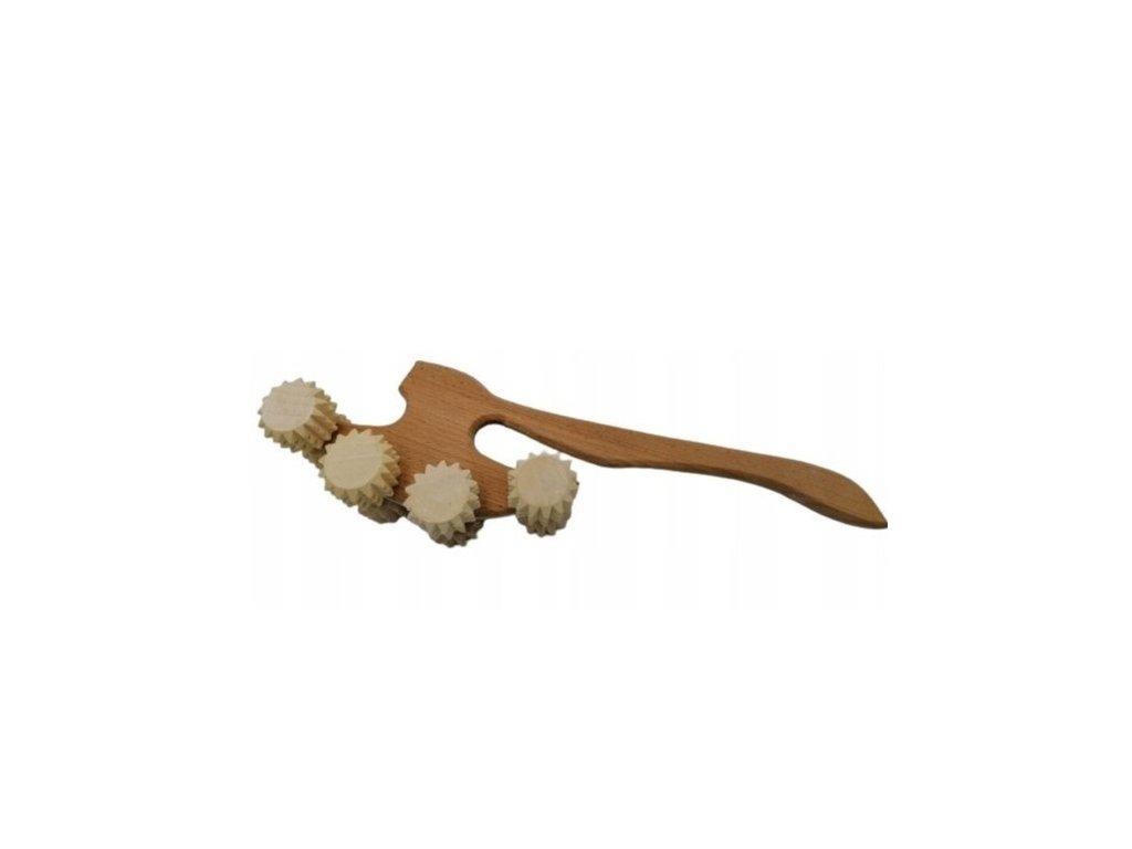 Ruční dřevěný masážní strojek