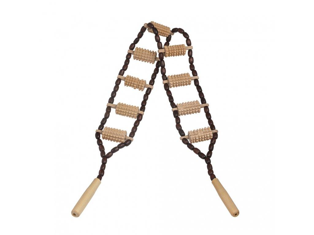 Dřevěné masážní lano