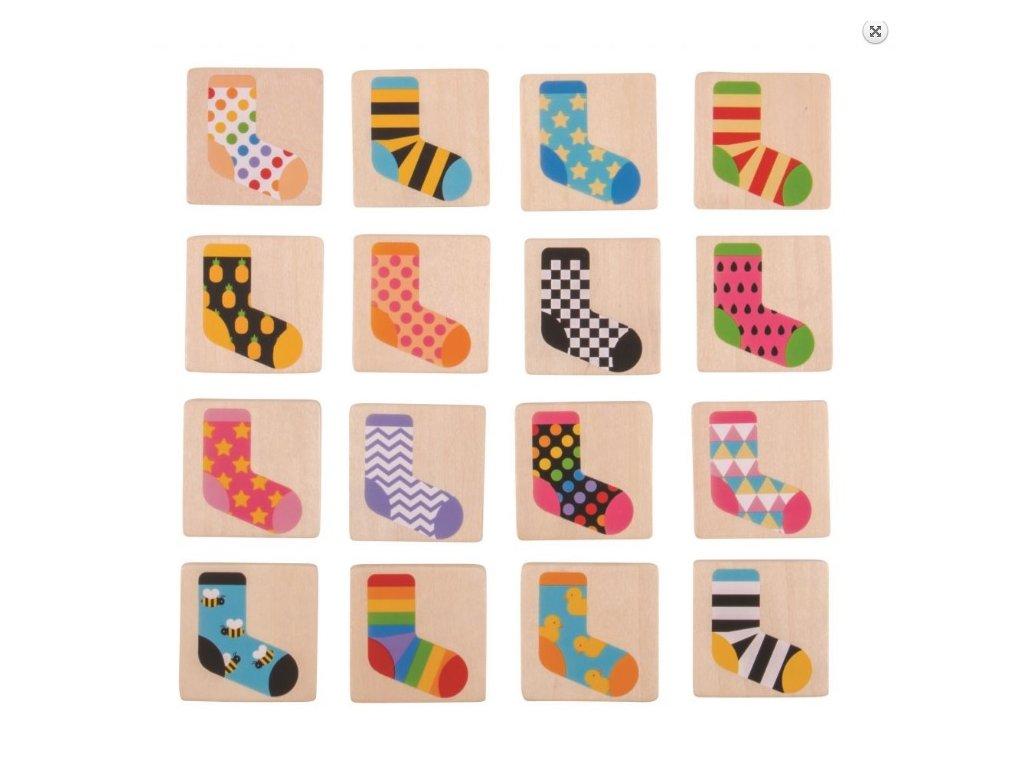Dřevěné ponožkové pexeso