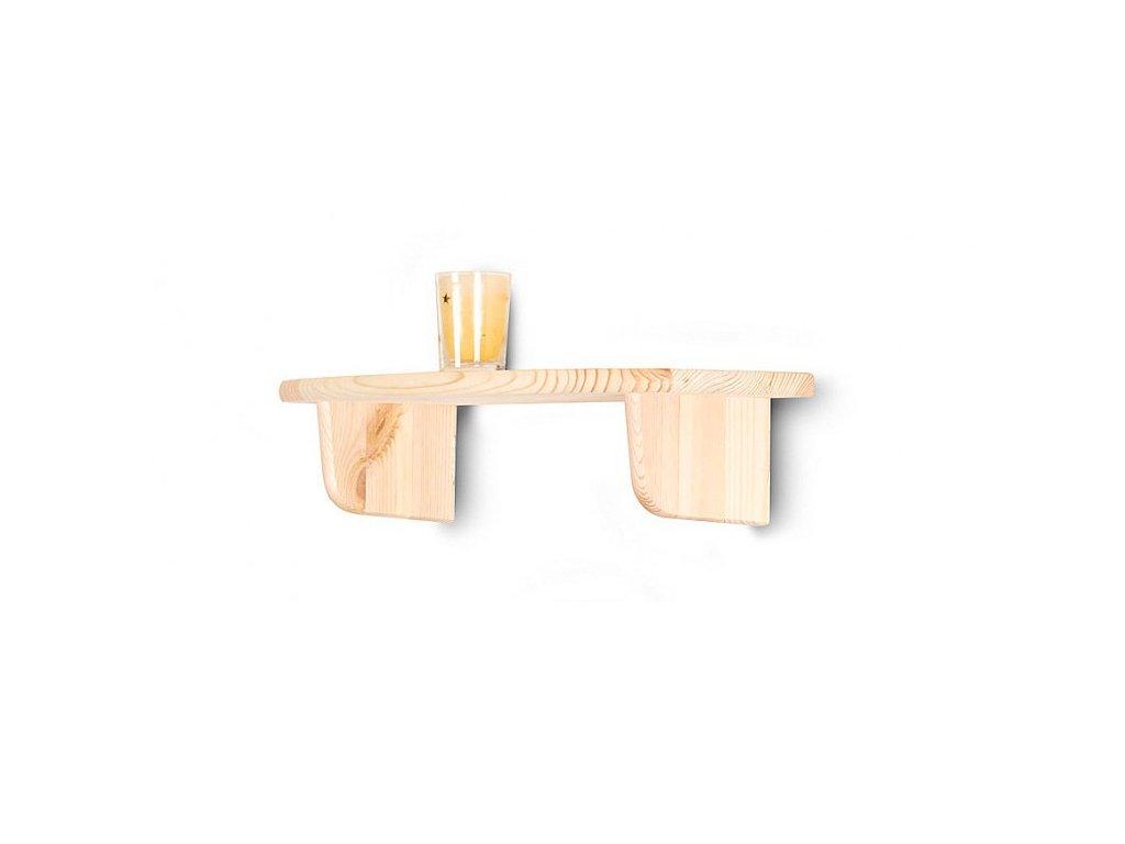 Dřevěná nástěnná police 45 cm