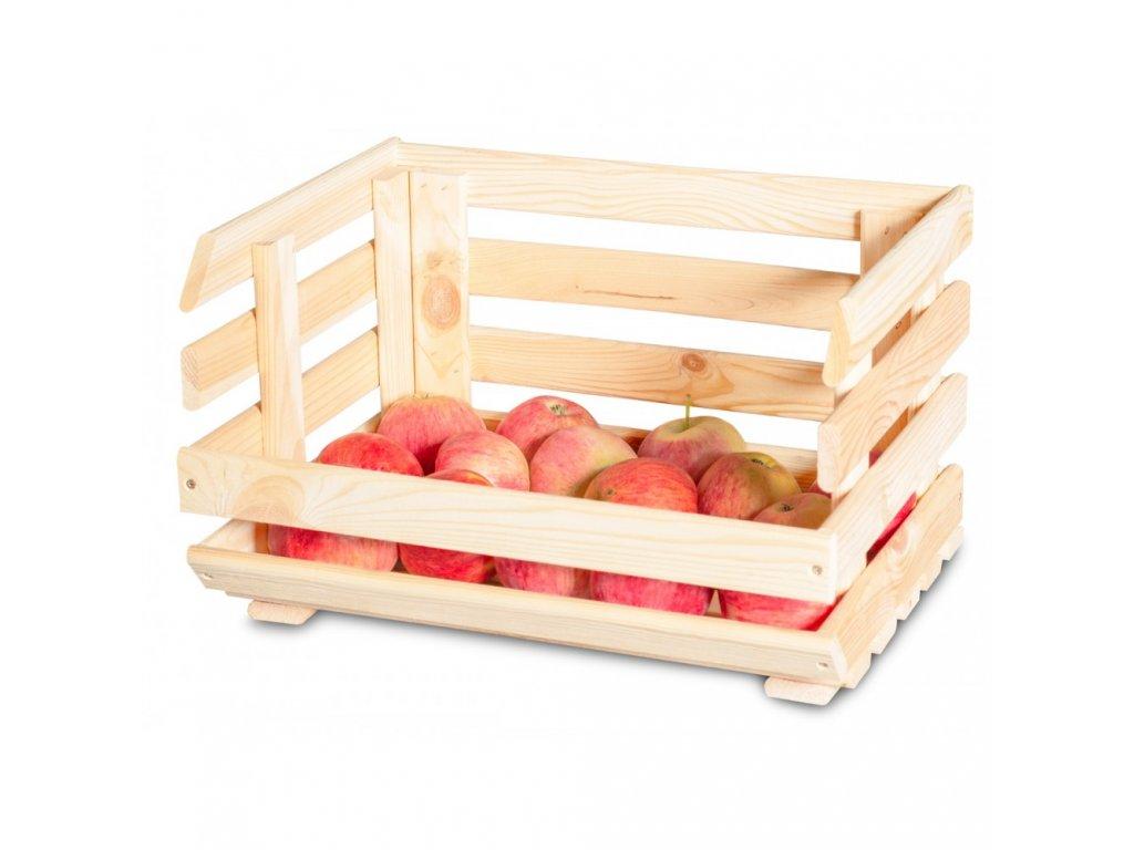Dřevěná bedýnka na ovoce a zeleninu