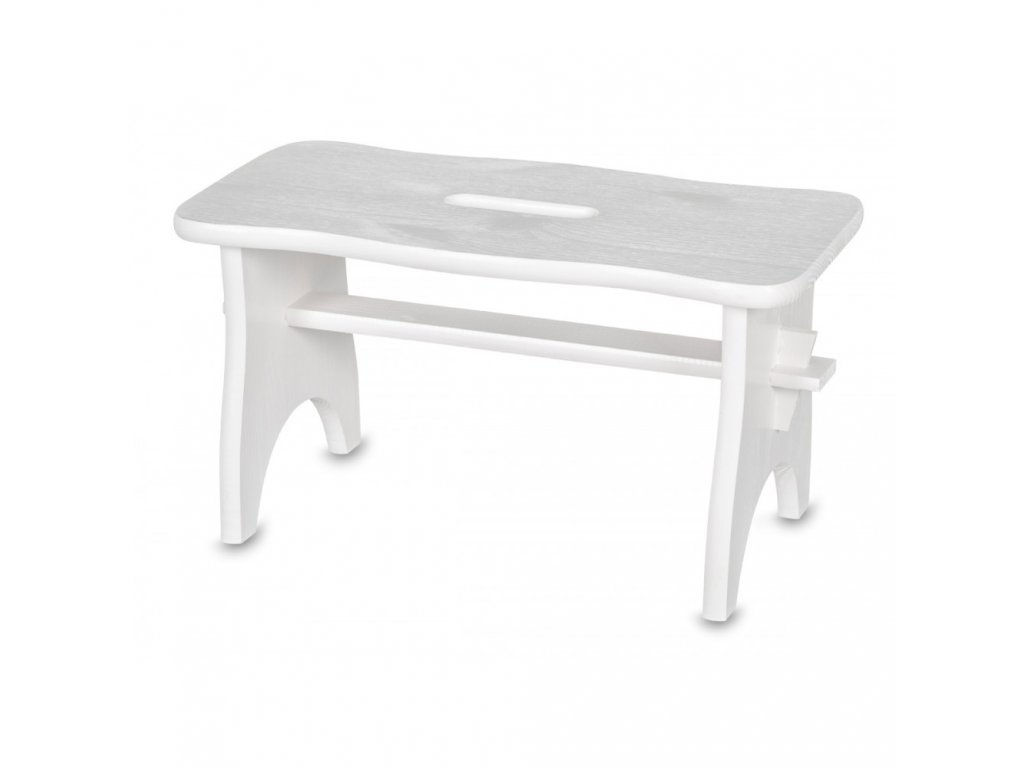 Dřevěná stolička- bílá