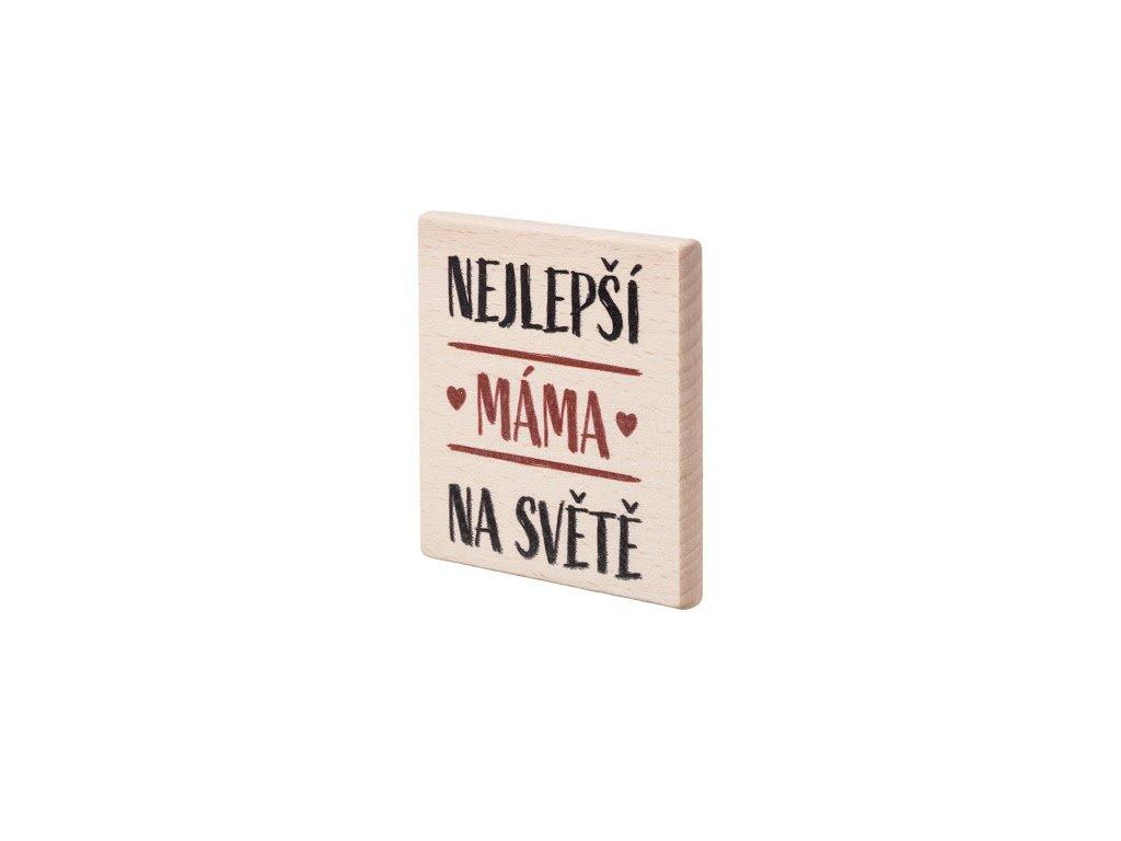 """Dřevěný podtácek """"Nejlepší máma na světě"""""""