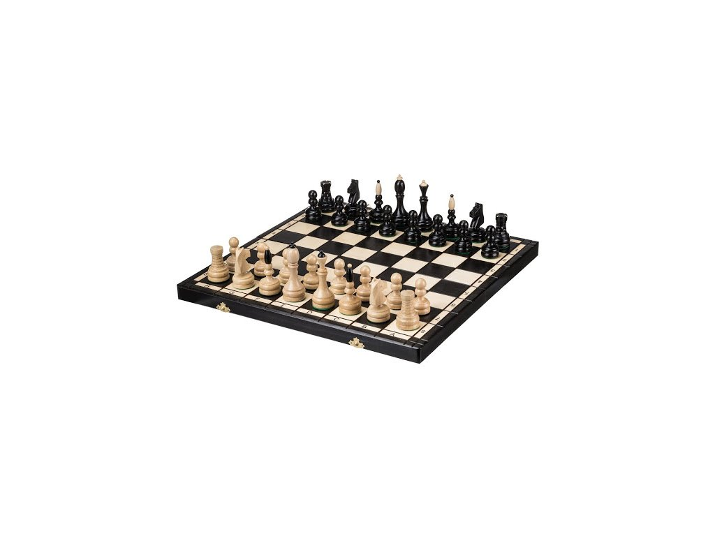 Velké dřevěné šachy -  48x48 cm