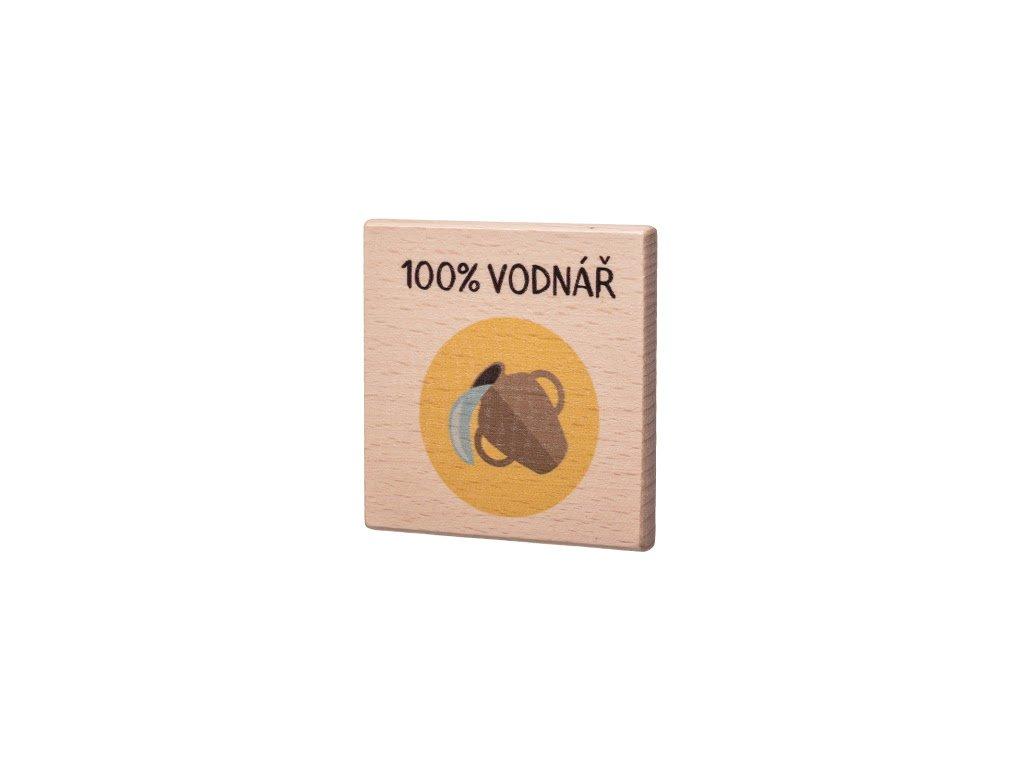 Dřevěný podtácek - 100% Vodnář
