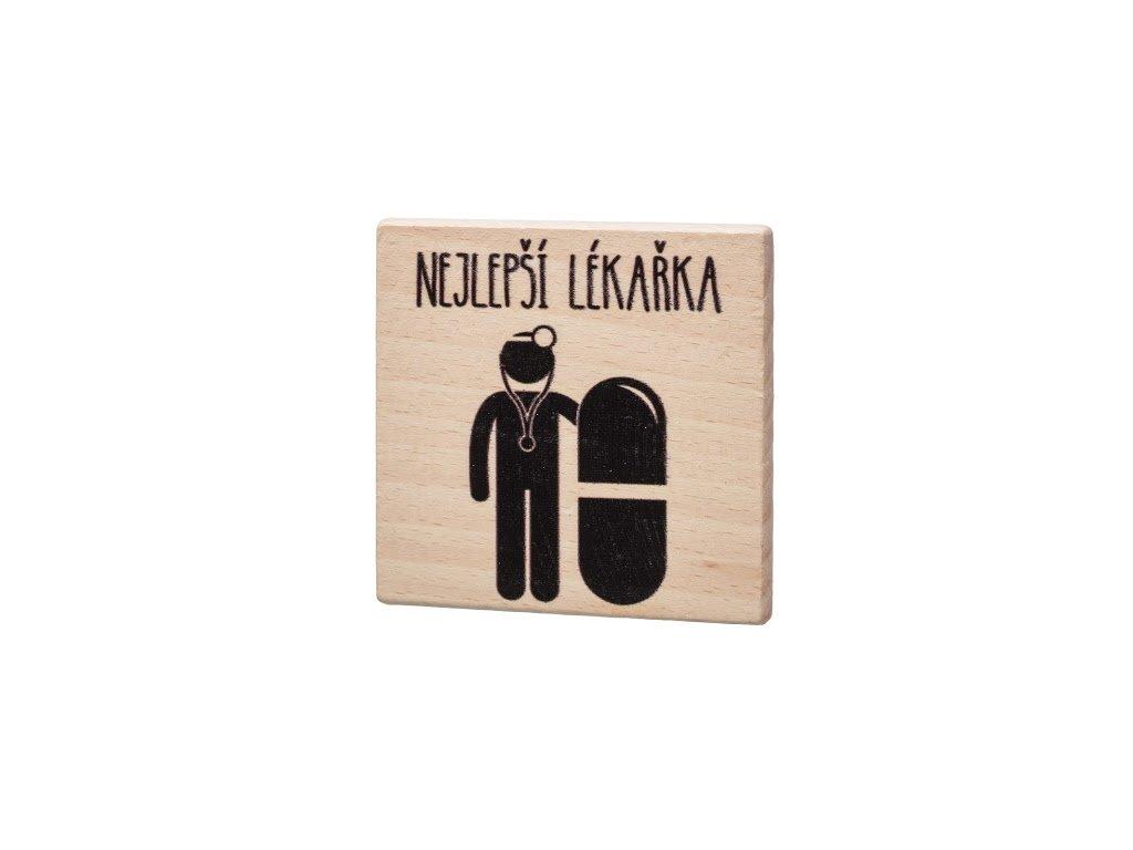 Dřevěný podtácek - Nejlepší lékářka