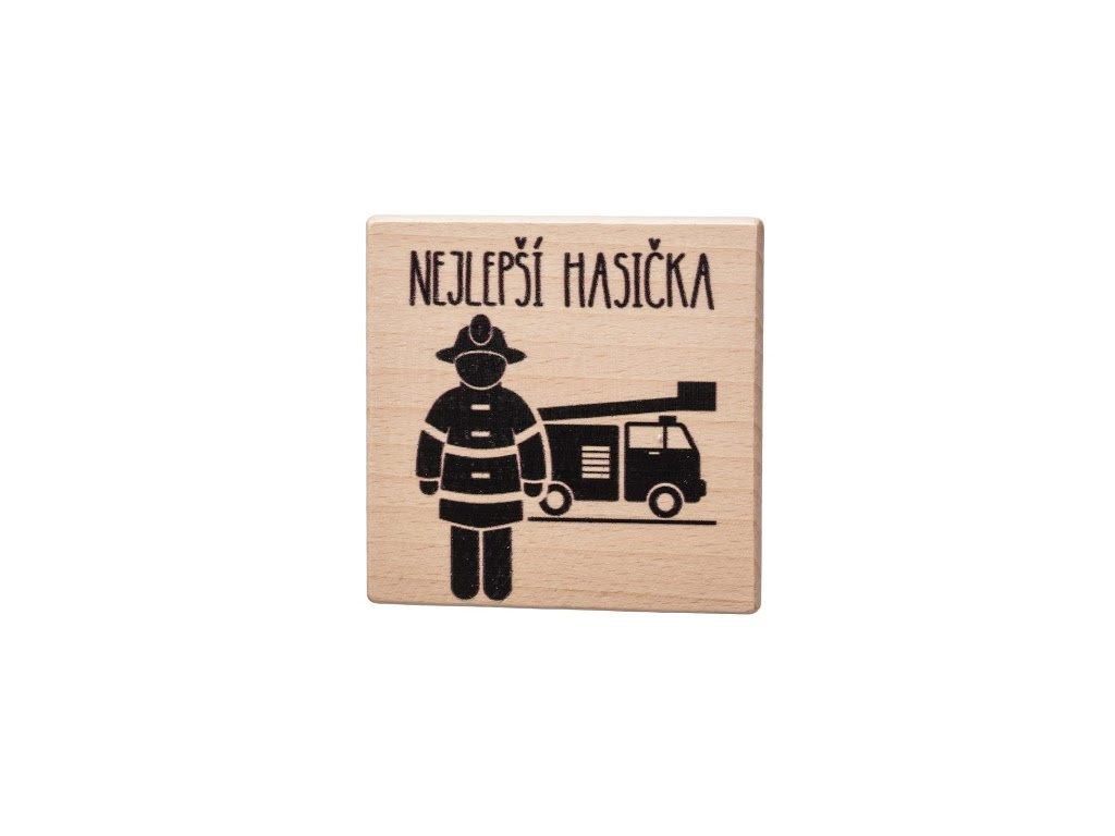 Dřevěný podtácek - Nejlepší hasička
