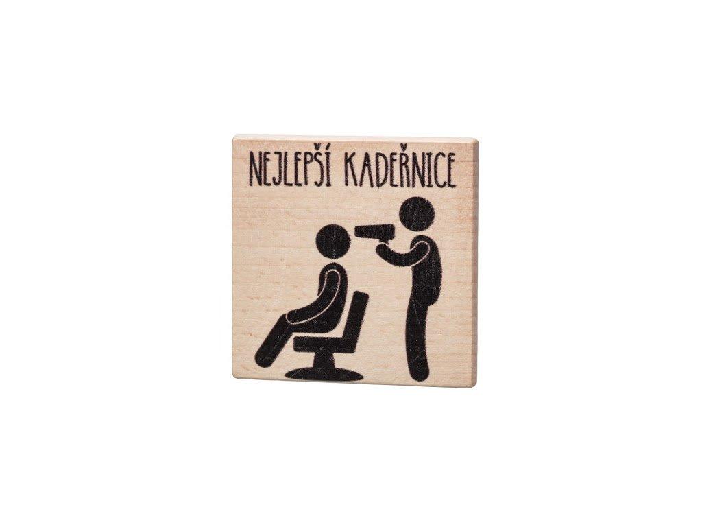 Dřevěný podtácek - Nejlepší kadeřnice