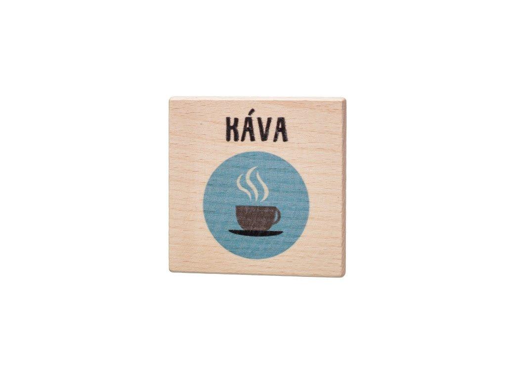 Dřevěný podtácek - Káva