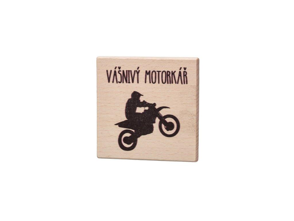 Dřevěný podtácek - Vášnivý motorkář