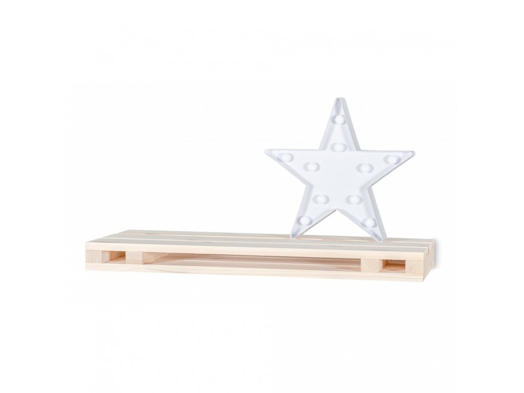 Dřevěná polička paleta - 60x23,5x5 cm