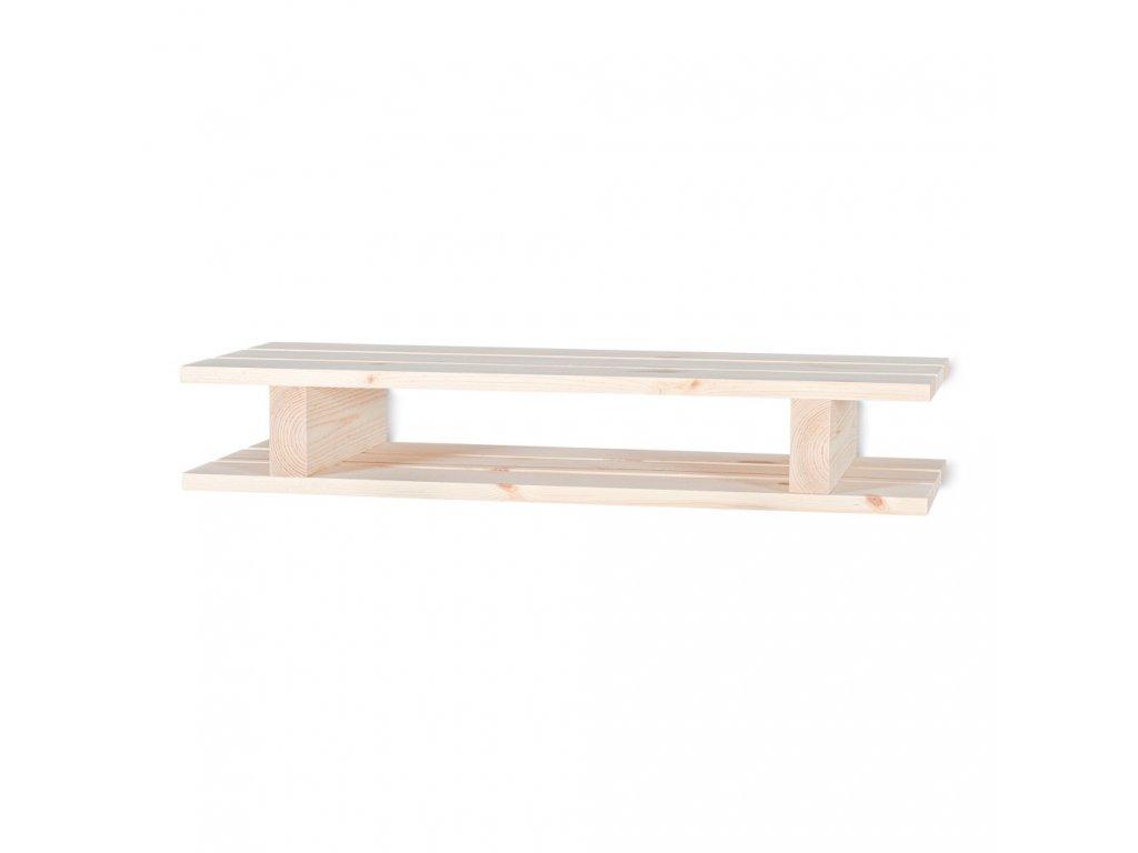 Dřevěná polička paleta - 60x23,5x10 cm