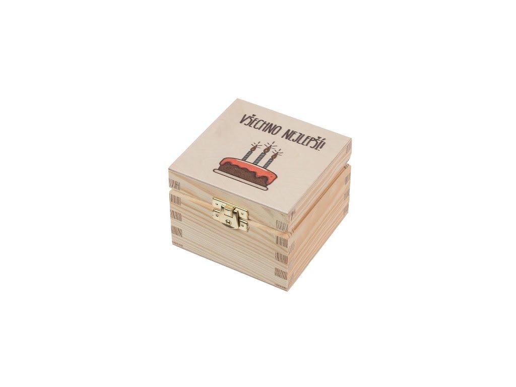 """Dřevěná krabička XVI - """" Všechno nejlepší!"""""""