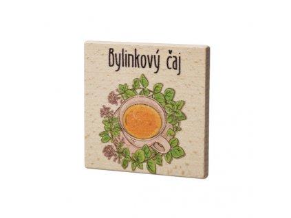 Dřevěný podtácek - Bylinkový čaj