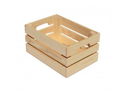 Dřevěná bedýnka 32 x 22 x 15 cm