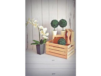 Dřevěná bedýnka 44 x 32 x 23 cm