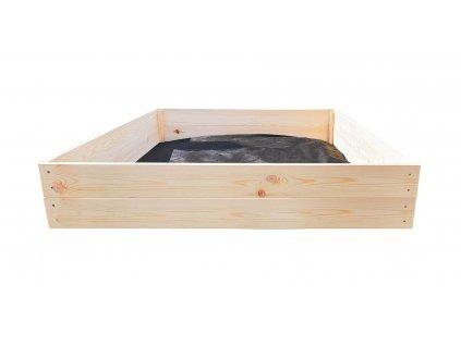 Dřevěný vyvýšený záhon 120 x 120 x 18 cm