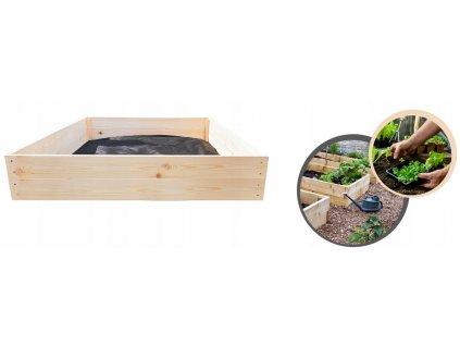 Dřevěný vyvýšený záhon 120 x 80 x 18 cm
