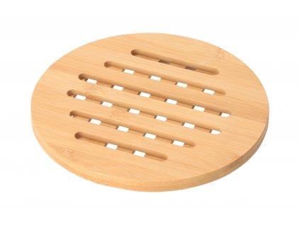 Kulatá bambusová podložka pod hrnec - 17,5 cm