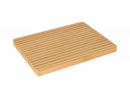 Dřevěné bambusové prkénko 33 x 25 cm - tenké pruhy