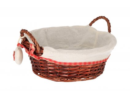 Proutěný košík CLASSIC s uchy - 30 x 10,5 cm